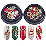 Christmas Nails Decorations 3D Metallic Nail Art