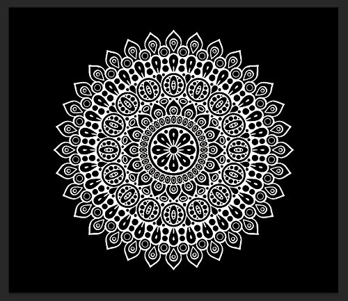 - Chengsan Black And White Tapestry, Wall Hanging Tapestry, Mandala Tapestries, Indian Traditional Cotton Printed Bohemian Hippie Large Wall Art by (79x59 inch, 2)
