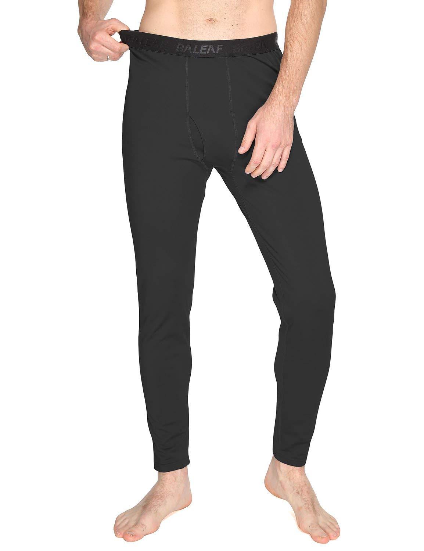 BALEAF Men's Heavyweight Thermal Underwear Pants Fleece Lined Long Johns Baselayer Bottom Black XXL by BALEAF