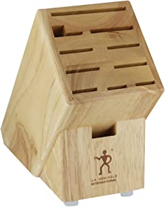 J.A. Henckels International 35102-112 Hardwood Knife Block, 11-slot, Stainless Steel