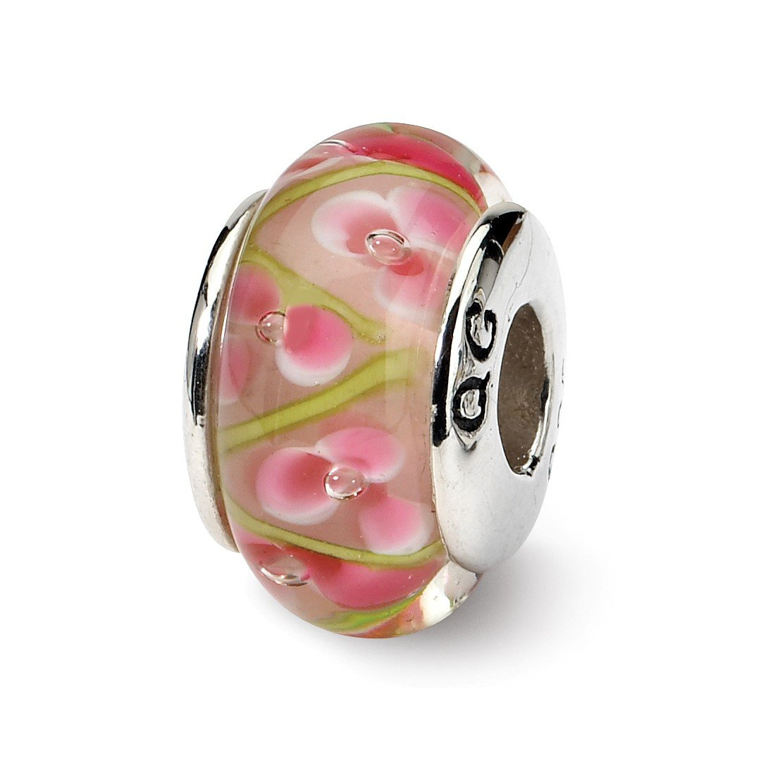 ICE CARATS 925 Sterling Silver Charm For Bracelet Pink/green Hand Blown Glass Bead Glas H Fine Jewelry Ideal Gifts For Women Gift Set From Heart