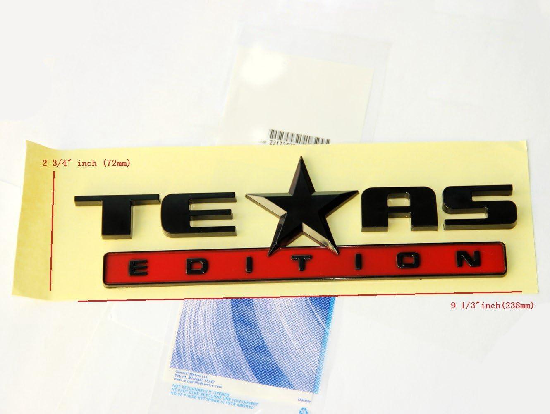 2X NEW 3D TEXAS EDITION EMBLEM CHEVY SILVERADO GMC SIERRA TRUCK Badge Tailgate