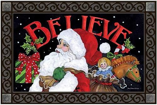 Studio M MatMates Believe in Santa Doormat – 18 x 30