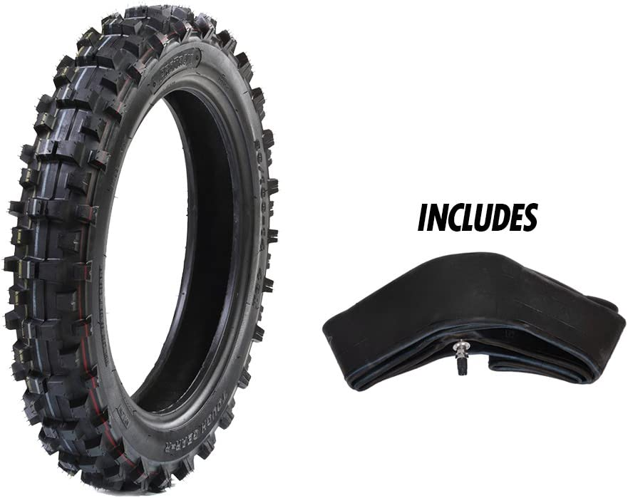 "Protrax Rear Tiretough Gear Offroad Motocross 90/100-16 Tire & Tube 3.50 X 16"" Combo Kit - Soft/Intermediate Terrain"