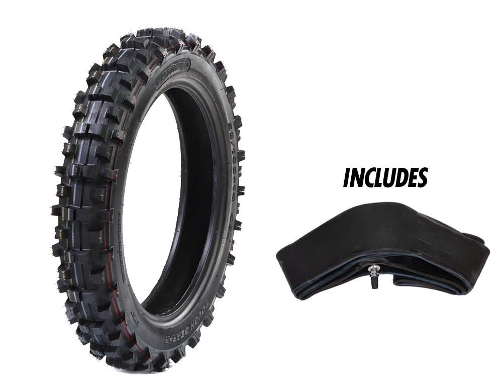 ProTrax Rear Tire for Tough Roads - Off-road motocross/dirt bike - Tire & Tube 3.60-4.10 x 14'' Combos – High Traction – Motorcycle Accessories/Parts- Soft Intermediate Terrain