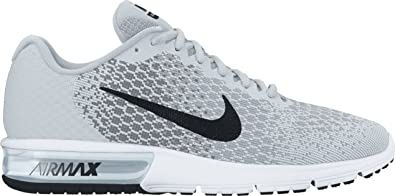 timeless design 397a4 7acb3 Image Unavailable. Image not available for. Colour  Nike Air Max Sequent 2  Pure Platinum Black Cool Grey Wolf Grey Women s