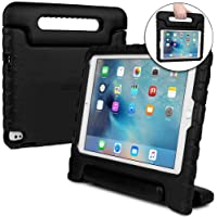 Cooper Dynamo [Rugged Kids Case] Protective Case for iPad 5th, iPad 6th Generation, iPad Air 2, Air 1 | Child Proof Cover with Stand, Handle (Black)