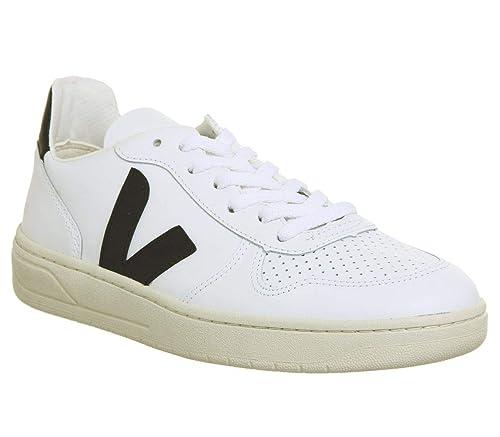 grandes marques gamme exceptionnelle de styles et de couleurs le plus en vogue VEJA - Baskets basses - Homme - Sneakers V10 Cuir Blanc Logo Noir pour homme