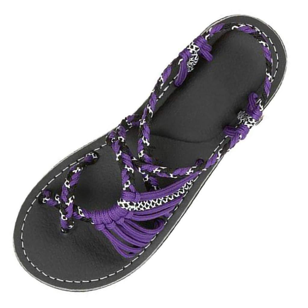 Sandali Estivi con Tacco e Plateau Eleganti Tacchi Ciabatte Infradito Bassi Donna Hemp Rope Flip Flops Sandals Summer Fashion Roman Beach Shoes Slippers