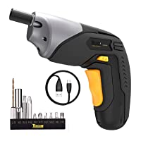 Deals on Teccpo Electric Cordless Screwdriver, USB Rechargeable