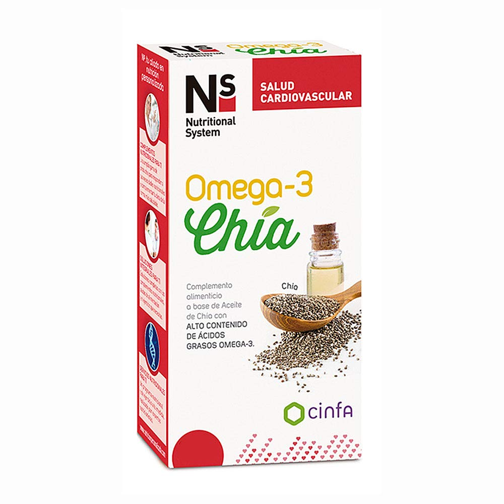NS Nutricional System Omega-3 Chia, 120Cápsulas: Amazon.es: Belleza
