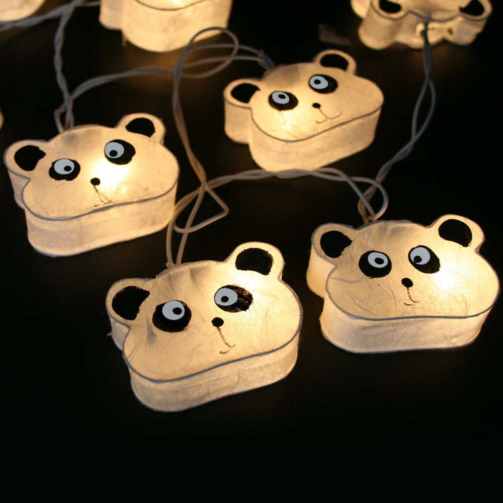 Blue Mango Panda Decor for Bedroom Lamps Black and White Color Warm Color Lights Perfect for used to Decorate the Bed or Bedroom for children. It can also be used to Decorate the Festival Party 20 pcs