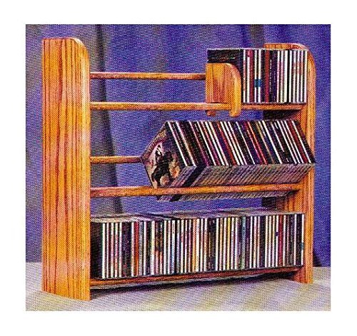 3 Row Dowel CD Rack (Honey ()