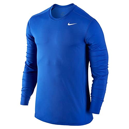 13c040ac9 Nike Men's Baselayer Top Long Sleeve Crew, Game Royal/Game Royal/White,