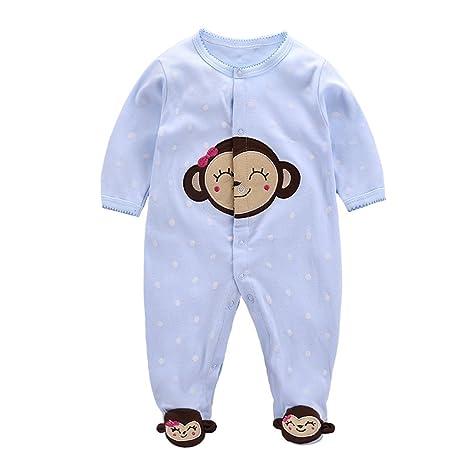 Bebé Niñas Pijama de Algodón Pelele Mameluco de Manga Larga Caricatura Trajes, 6-9
