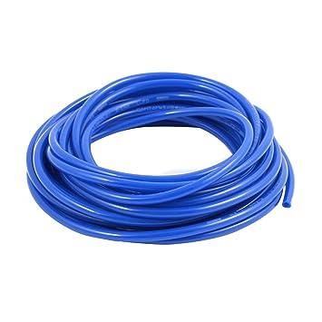 sourcingmap® 6 mm x 4 mm neumático del compresor de aire Tubo PU Tubo Manguera Tubo de 8 metros Azul: Amazon.es: Bricolaje y herramientas