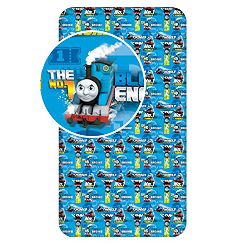Jerry Fabrics Thomas and Friends Single Fitted Sheet - Blue