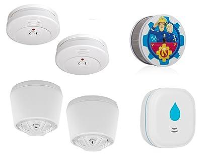 Smartwares de 2 Años de casa Juego de Alarma (Humo, Calor, Agua)