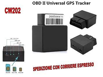 GPS Tracker OBD2 16 pines localizador satélite portátil coche vehículo GSM CW202