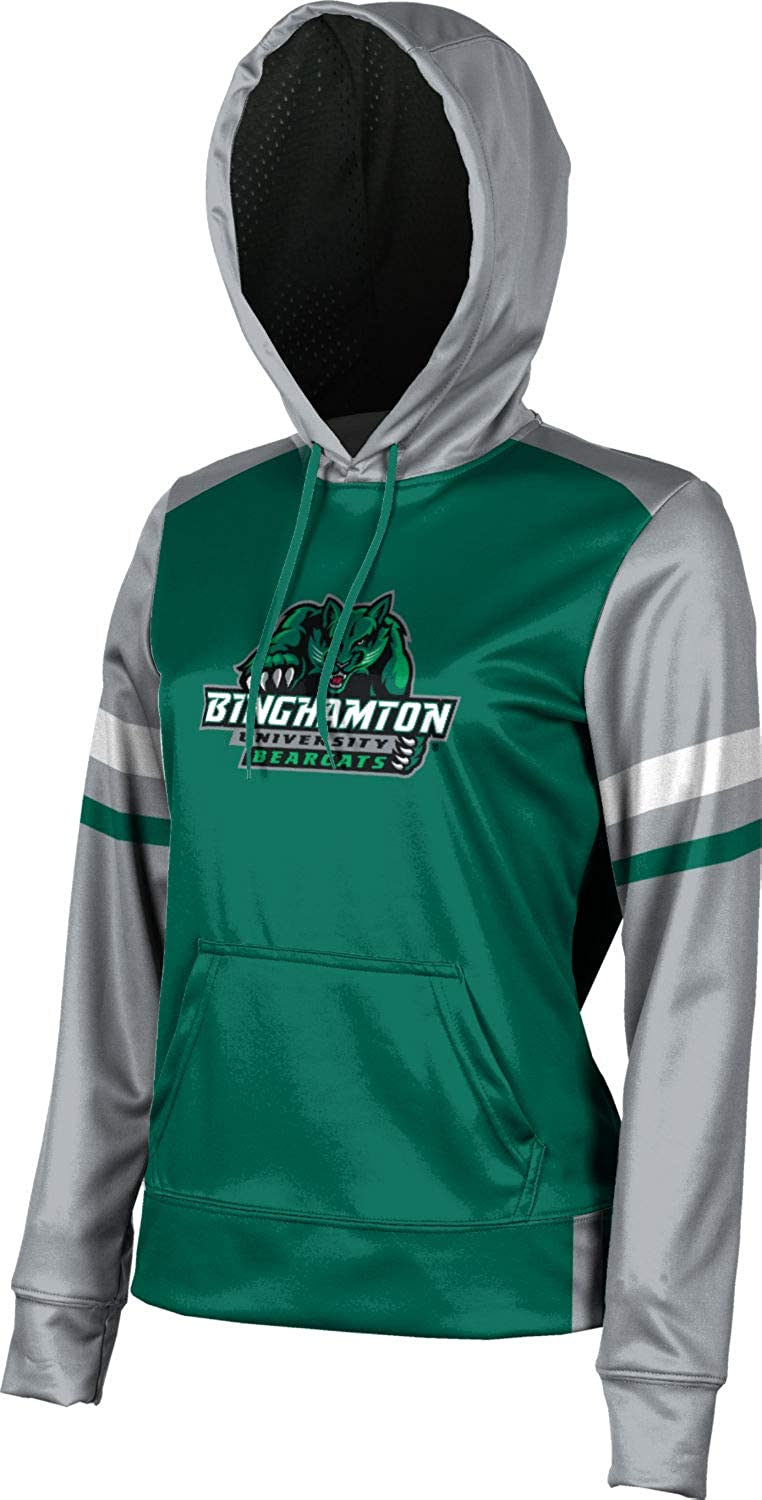ProSphere Binghamton University Womens Pullover Hoodie Old School School Spirit Sweatshirt
