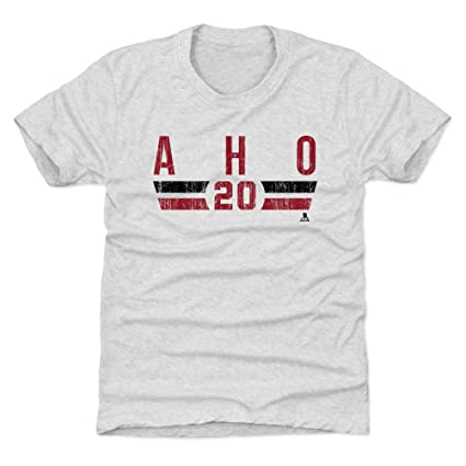 Amazon.com   500 LEVEL Sebastian Aho Carolina Hockey Kids Shirt ... 10a5223e1b6