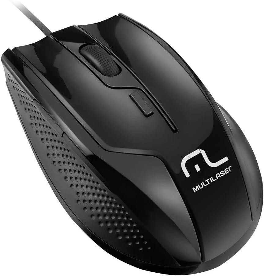 Mouse Usb Óptico Led 1600 Dpis Profissional Rapid Mo164 Multilaser