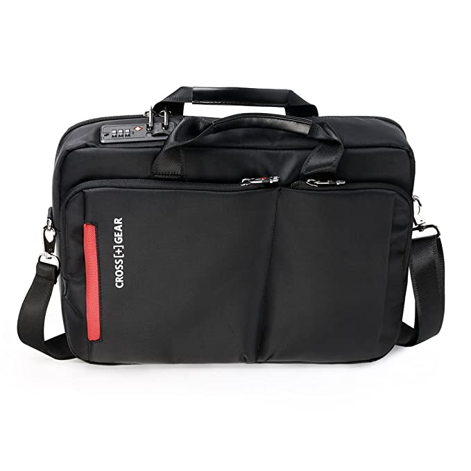 570bdca116 Amazon.com  CrossGear Briefcase with Combination Lock Anti Theft Business  Office Bag Laptop Sleeve case