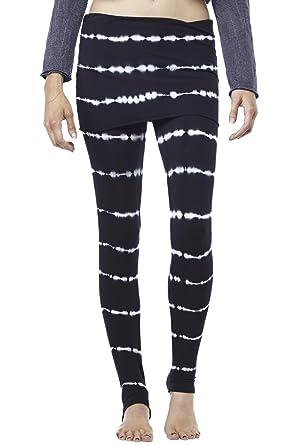 8a1fa39b75 LVR Bamboo Stripe Leggings Womens Active Organic Yoga Leggings Black Printed