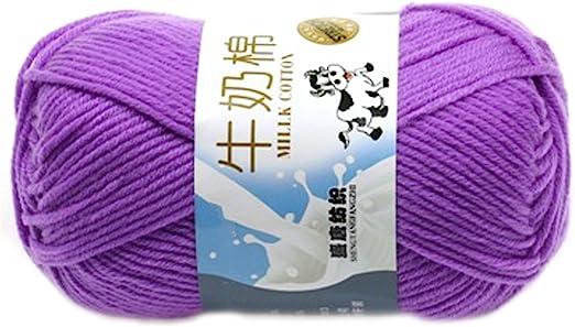 Suave Suave Leche de algodón natural de la mano de tejer lana de lana bola del hilado del bebé Craft-Cian: Amazon.es: Hogar