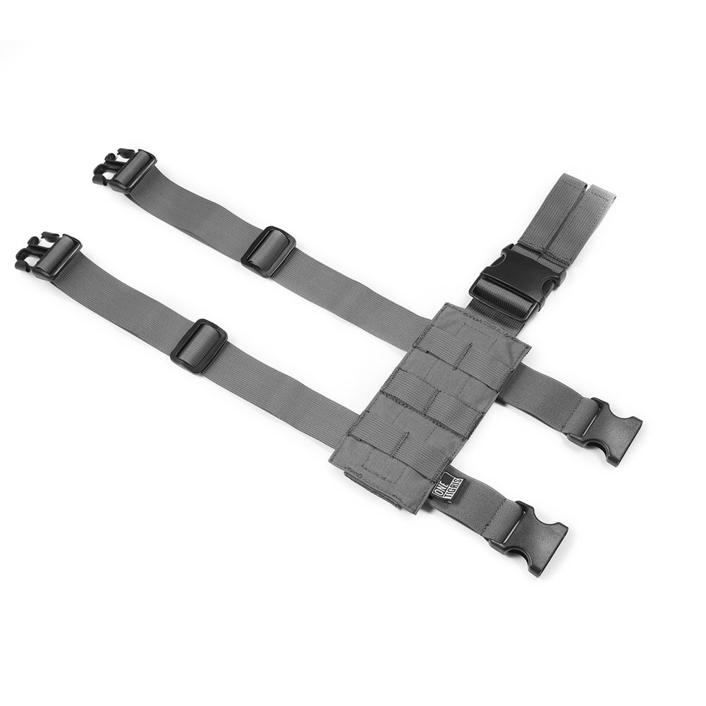 de nailon 1000D Estructura para el muslo para fundas blandas de pistola negro OneTigris