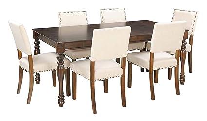 Royaloak Ranger Six Seater Dining Table Set (Brown)
