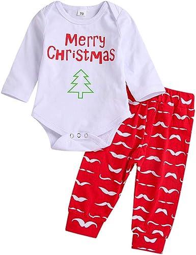 K-youth Ropa Bebe Nino Otoño Invierno Navidad Ofertas Infantil Recien Nacido Blusas Bebe Niña Body Bebe Manga Larga Niño Camisetas Bebé Mono Conjuntos Bebé Moda Camisa + Pantalon: Amazon.es: Ropa y accesorios
