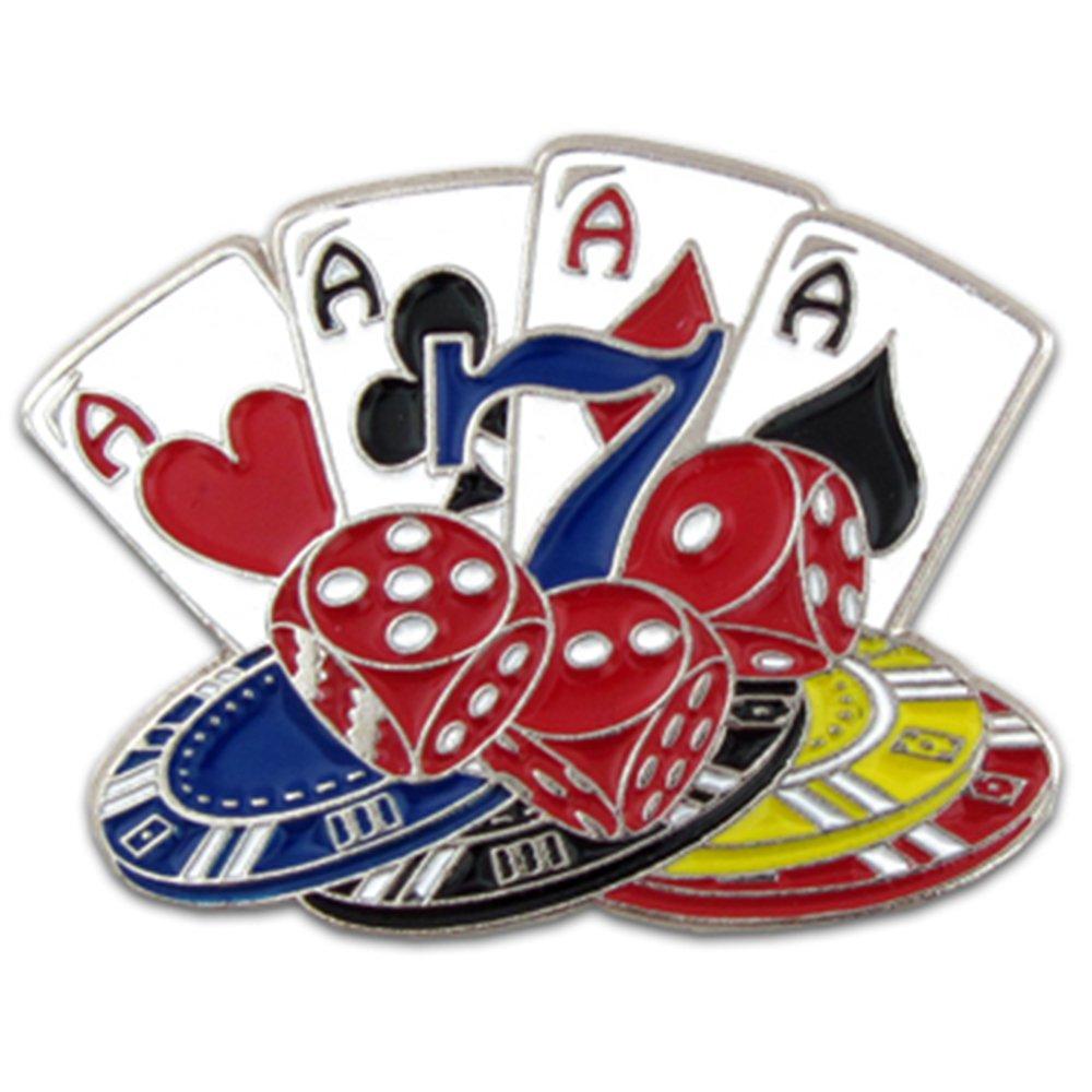 Pinmart 's Pinmart Playingカード、ダイスとポーカーチップラペルピン1