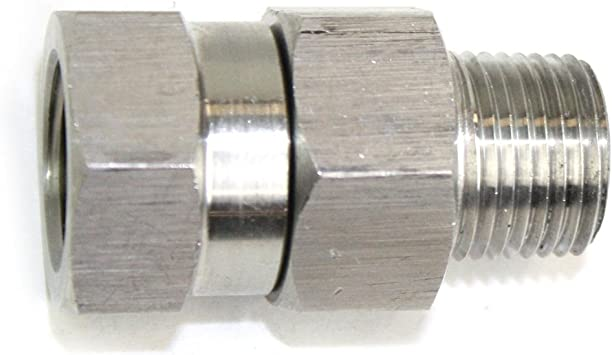 4000 PSI PW7166 3/8 MPT x 3/8 FPT Stainless Steel Swivel Fitting ...