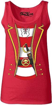 shop4ever Pirate Skull & Crossbones Women's Tank Top Pirate Flag Tank Tops