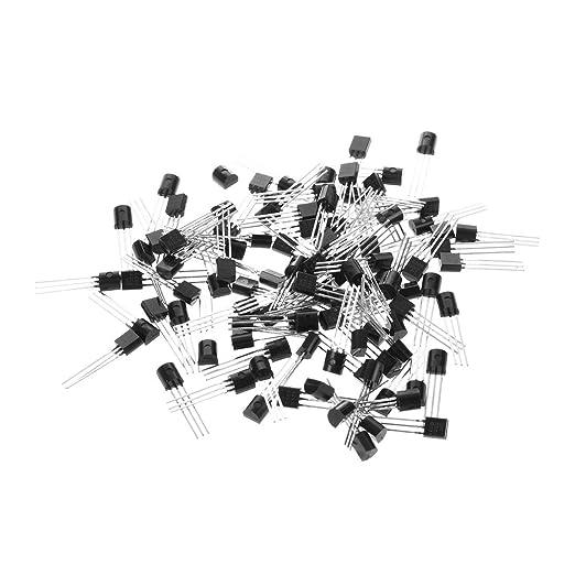 10pcs 2N5401 Through Hole  3 Pin PNP Transistor