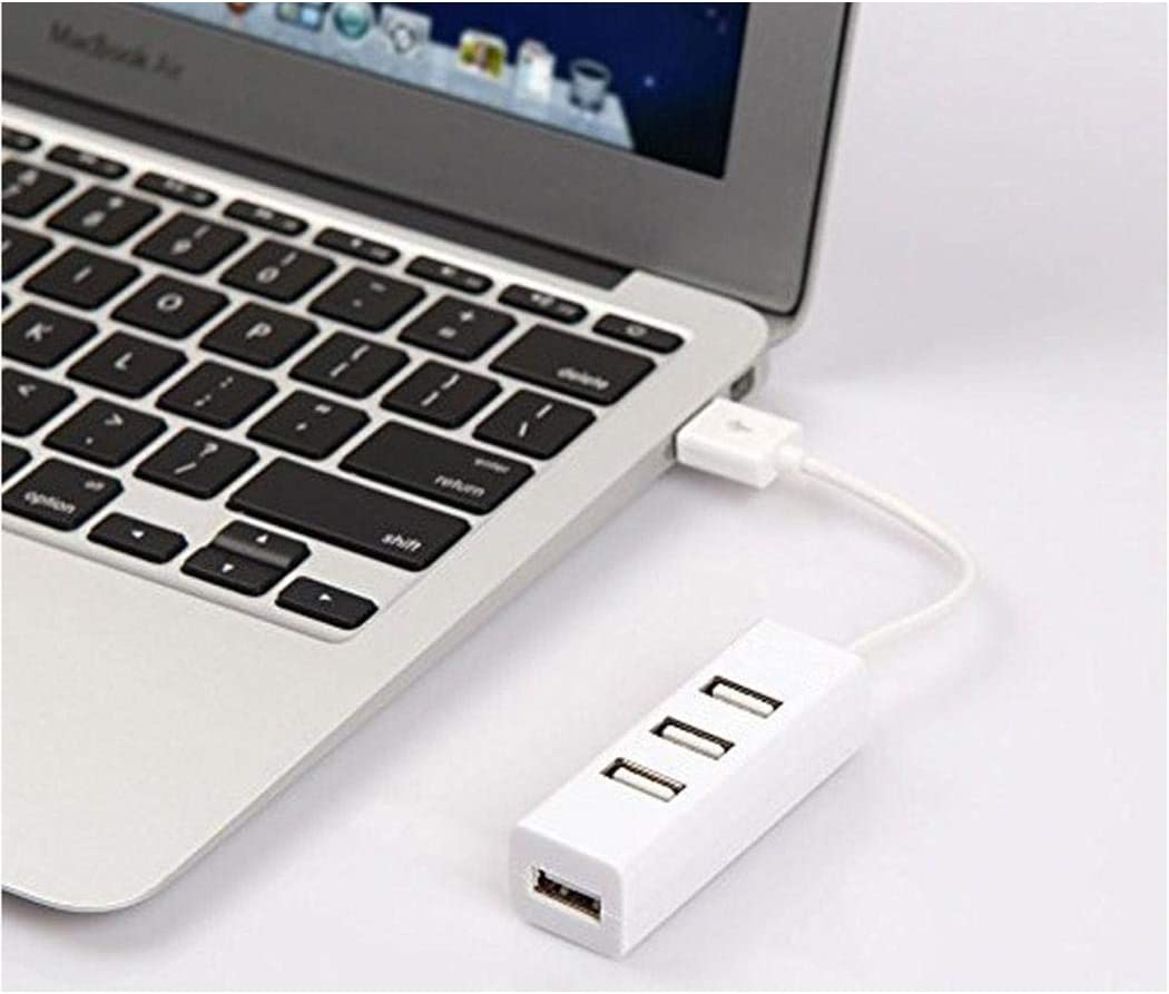 Partm 4 Ports LED USB 2.0 Adapter Hub for PC Laptop Hubs