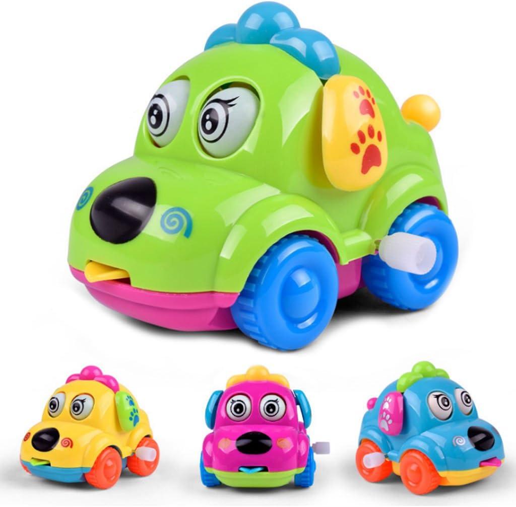 WE-WHLL Running Car Clockwork Classic Toy Cute Cartoon Animal Dog Newborn Spring Toy