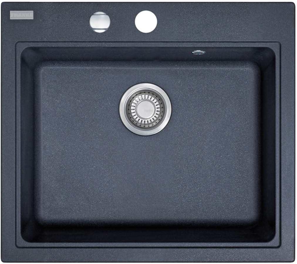 material Fragranite DuraKleen Plus color negro Fregadero empotrable Franke Maris MRG 610-58 1140075390