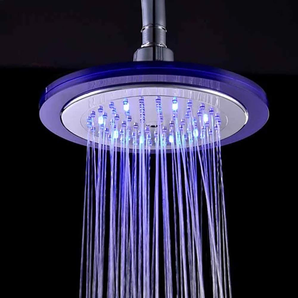 3 colores cambiante Alcachofa de ducha HYY-YY LED de alta presi/ón con sensor de temperatura en ABS de alta presi/ón