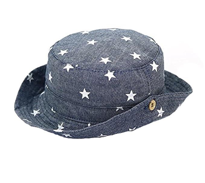 8427c045e5283 keephen Baby Sonnenhut Junge Mädchen Sommer Hut Stern Druck Angeln Hut UV  Schutz Baumwolle Hut Kind  Amazon.de  Bekleidung
