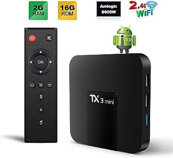 TX3 MINI TV Box Android 9.0 TV BOX 2GB/16GB 4K TV Amlogic S905W Quad core H.265 Decoding 2.4GHz WiFi: Amazon.es: Electrónica