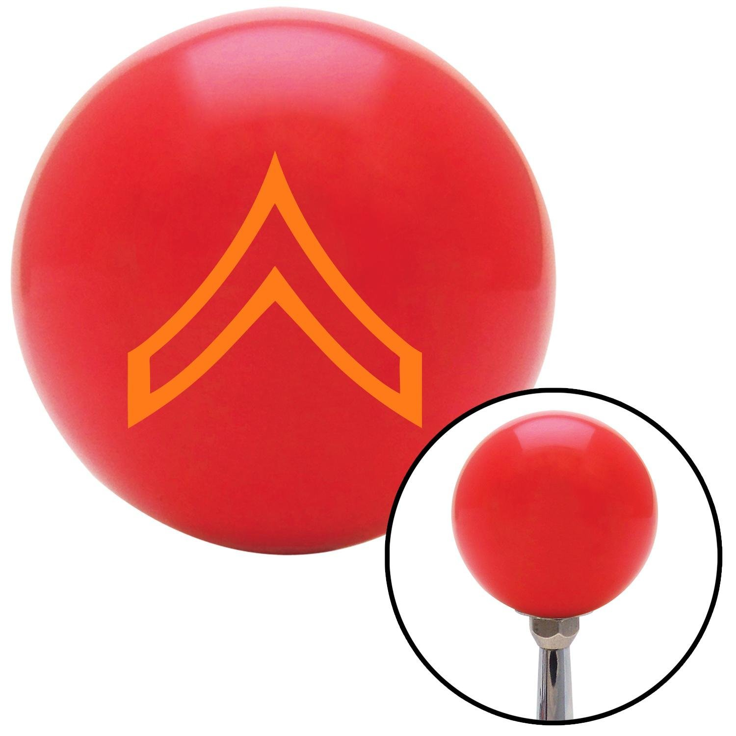 Orange Private American Shifter 97836 Red Shift Knob with M16 x 1.5 Insert