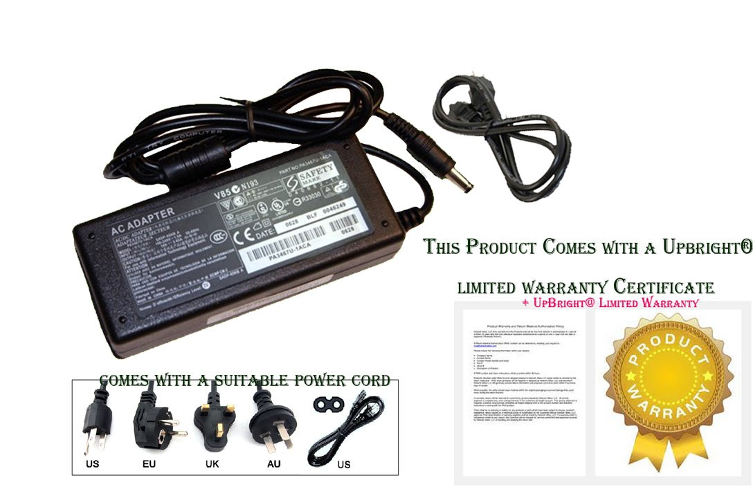 UpBright AC Adapter For Motion Computing MC-C5 CFT-001 TCD001 CFT-003 HDD Tablet PC Charger Power Supply Cord PSU by UPBRIGHT