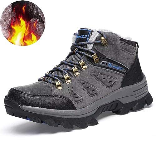 Arrampicata Scarpe da Trekking Uomo Invernali Stivali Scarponi da Neve  Pelliccia Stivaletti Pelle Impermeabile Caldo Boots High Top Sneaker  Calzature da ... d689ffbeb1d