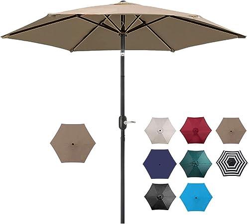 UHINOOS 7.5ft Patio Umbrella Outdoor Table Market Umbrella