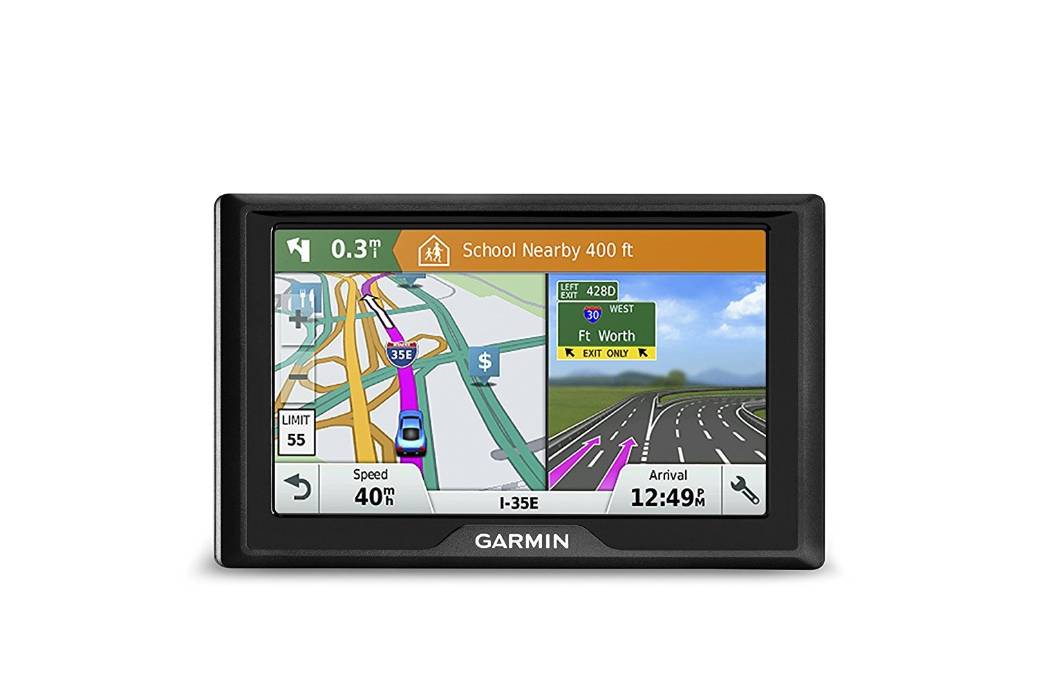 Garmin Drive 51 USA LM GPS Navigator System with Lifetime Maps, Spoken Turn-By-Turn Directions, Direct Access, Driver Alerts, TripAdvisor and Foursquare Data (Renewed) by Bushnell