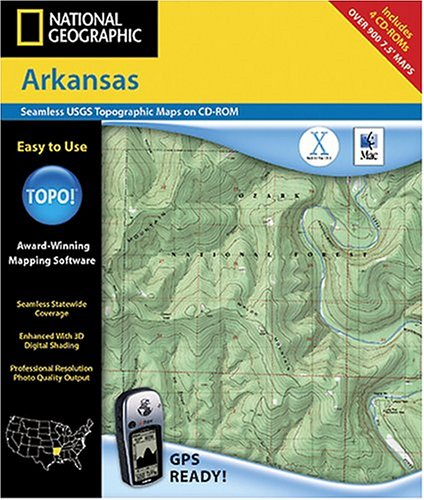 (National Geographic TOPO! Map of Arkansas)