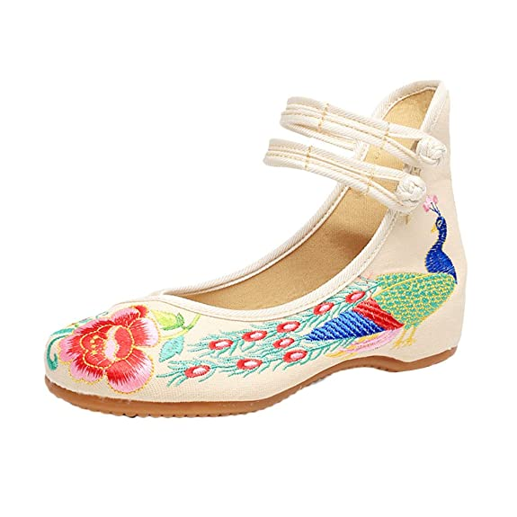 Chinese Style Breathable Casual Shoes Womens Chic Embroidered Shoes