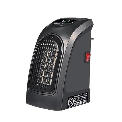 400W Estufa Eléctrica Portátil Calentador Eléctrico de Radiador de Pared Temperatura Regulable Calefactor de Bajo Consumo